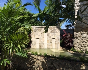 Water Feature Design with Tropical Landscape Design 2