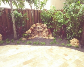 Waterfall and Hardscapes in Kendall