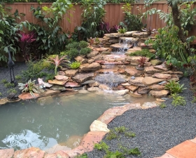 Waterfall Design by Landscape Designer