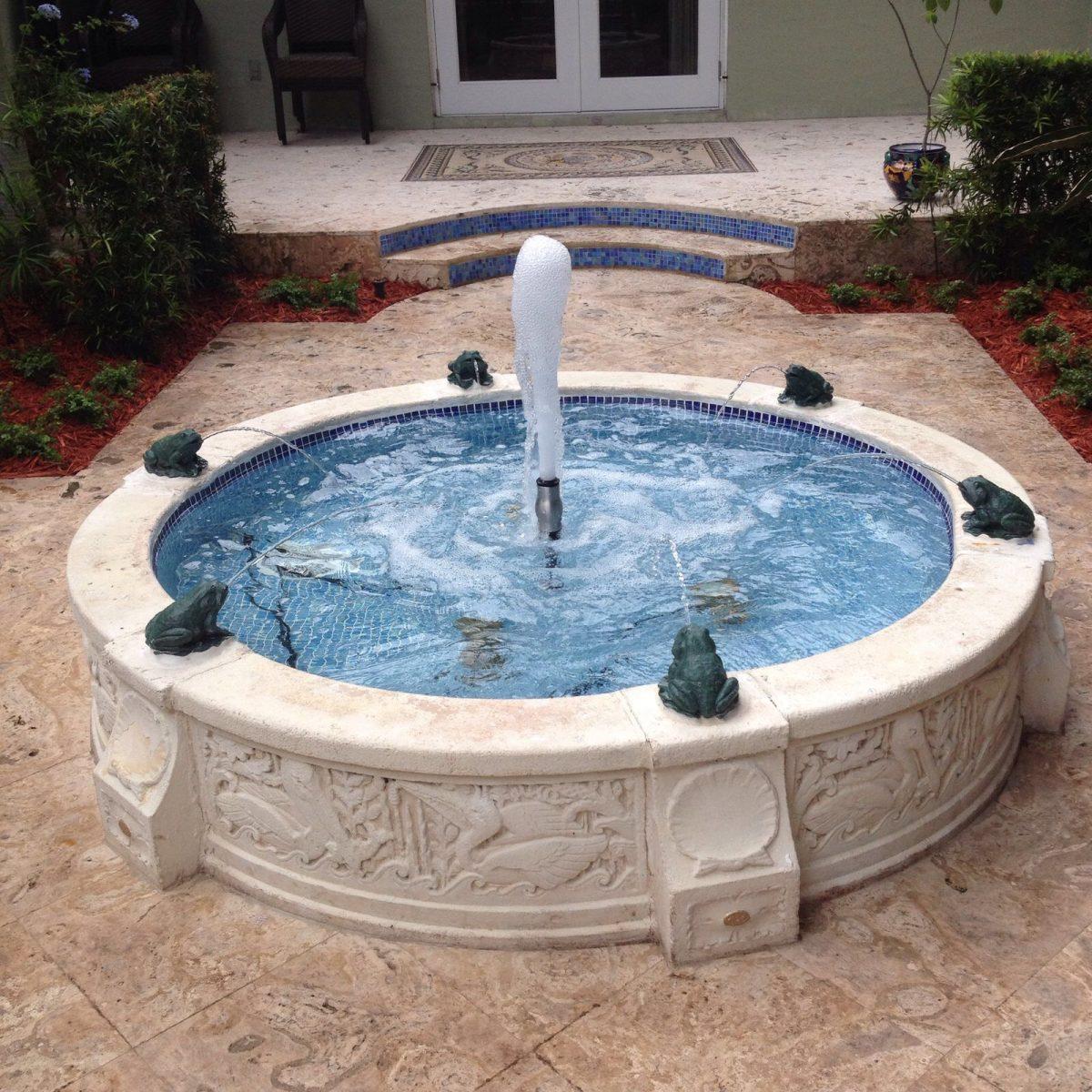 Waterfall Installation and Landscape Installation in Miami, Miami Beach