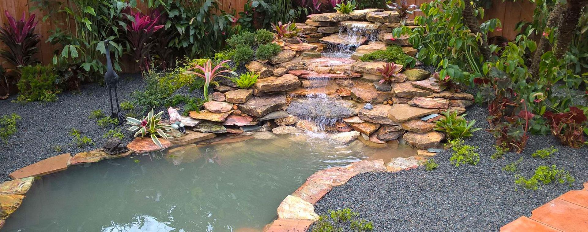 Exotic Landscape Design Landscape Installation Custom Waterfalls